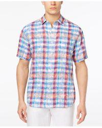 Tommy Bahama - Tropico Madras Linen Sport Shirt - Lyst