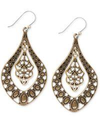 Lucky Brand - Earrings, Silver-tone Filigree Oblong Earrings - Lyst