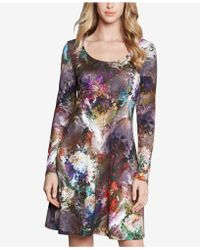 Karen Kane - Printed A-line Dress - Lyst