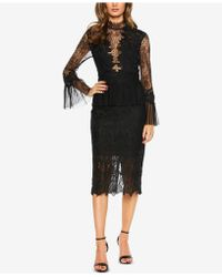 Bardot - Lace Bell-sleeve Sheath Dress - Lyst