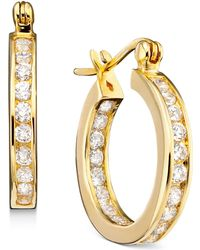 Giani Bernini | 18k Gold Over Sterling Silver Cubic Zirconia Hoop Earrings (2-1/3 Ct. T.w.) | Lyst