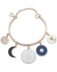 DKNY - Gold-tone Charm Bangle Bracelet, Created For Macy's - Lyst