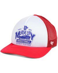 new style 36123 babe4 47 Brand - Detroit Pistons Region Mesh Mvp Cap - Lyst