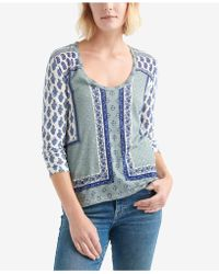 Lucky Brand - Placed Print Top - Lyst