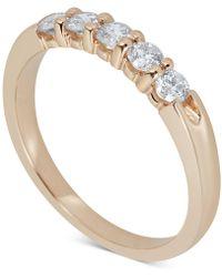 Macy's - Certified Diamond Scalloped Ring (1/2 Ct. T.w.) In 14k White Gold - Lyst