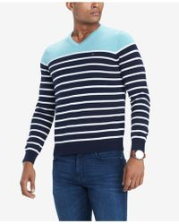 Tommy Hilfiger - Signature Coast Colorblocked Stripe V-neck Sweater, Created For Macy's - Lyst