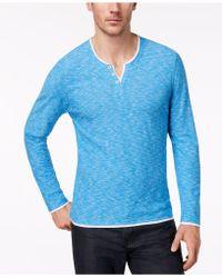 INC International Concepts - Popular Guy Long-sleeve Split-neck T-shirt - Lyst
