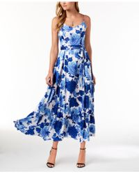 Betsey Johnson - Belted Floral-print Maxi Dress - Lyst