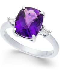 Macy's - Amethyst (2-7/8 Ct. T.w.) & Diamond Accent Ring In Sterling Silver - Lyst