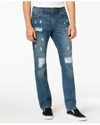 American Rag - Slim-fit Destroyed Jeans, Created For Macy's - Lyst
