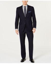 Perry Ellis - Slim-fit Comfort Stretch Navy Solid Suit - Lyst