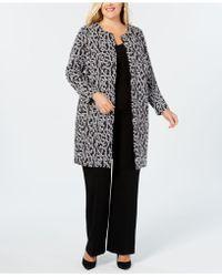 Alfani - Plus Size Animal-print Jacket, Created For Macy's - Lyst