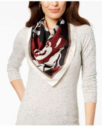 Vince Camuto - Illustrated Floral Silk Square Bandana Scarf - Lyst