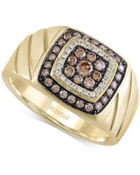 Effy Collection - Men's Brown And White Diamond Ring (5/8 Ct. T.w.) In 14k Gold - Lyst