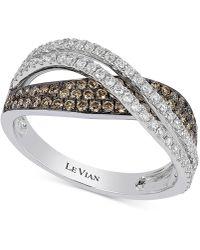 Le Vian - Diamond Overlap Crisscross Ring (3/4 Ct. T.w.) In 14k White Gold - Lyst