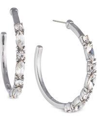 Givenchy - Crystal Open Hoop Earrings - Lyst
