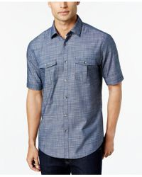 Alfani - Warren Solid Textured Shirt - Lyst