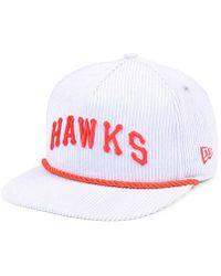promo code 9f44c 546e1 KTZ - Atlanta Hawks Hardwood Classic Nights Cords 9fifty Snapback Cap - Lyst