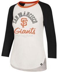 47 Brand - San Francisco Giants Vintage Raglan T-shirt - Lyst