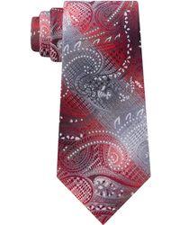 Van Heusen - Hussein Classic Plaid Paisley Tie - Lyst