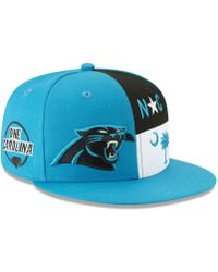 huge selection of 4a3bb ed101 KTZ Carolina Panthers Metal Thread 9fifty Snapback Cap in Blue for Men -  Lyst