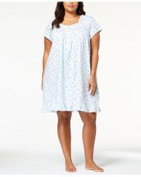 Eileen West - Plus Size Cotton Venise-lace Knit Nightgown - Lyst