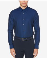 Perry Ellis - Iridescent Solid Scale Shirt - Lyst
