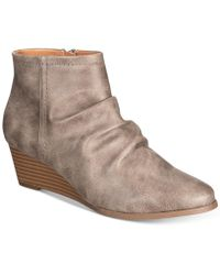 Style & Co.   Women's Ginnah Wedge Ankle Booties   Lyst