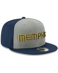 sale retailer d5762 3761d KTZ Memphis Grizzlies Metal Mash Up 59fifty-fitted Cap in Blue for Men -  Lyst