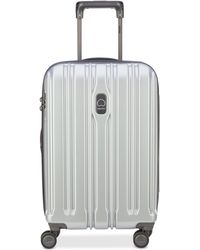 "Delsey - Connectech 21"" Spinner Expandable Carry-on Suitcase - Lyst"