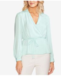 90267e09e3a57 Lyst - Vince Camuto Off-the-shoulder Blouse in White