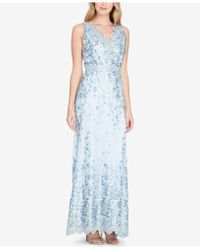 Tahari - Asl Embroidered Gown - Lyst