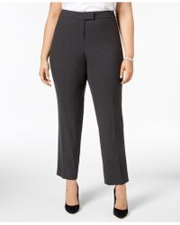 Anne Klein - Plus Size Straight-leg Pants - Lyst