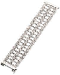 Givenchy - Silver-tone Crystal Flex Bracelet - Lyst