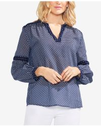 Vince Camuto - Printed V-neck Top - Lyst