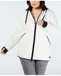 2de41e39924 Calvin Klein Performance Plus Size Asymmetrical Puffer Jacket in ...