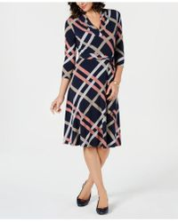 Charter Club - Petite Plaid Belted Swing Dress, Created For Macy's - Lyst