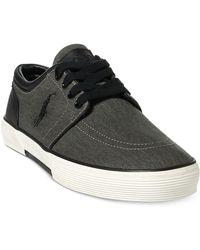 Polo Ralph Lauren - Men's Faxon Washed Twill Sneakers - Lyst