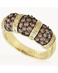 Le Vian - ® Vanilla Diamonds® (1/10 Ct. T.w.) And Chocolate Diamonds® (1 Ct. T.w.) Ring In 14k Gold - Lyst