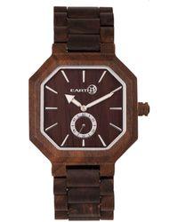 Earth Wood - Acadia Wood Bracelet Watch Brown 43mm - Lyst