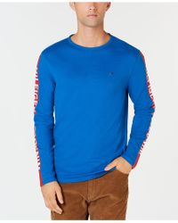 80a735cd1e3d6f Lyst - Tommy Hilfiger Men s Striped Long-sleeve T-shirt for Men