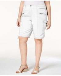 Style & Co. - Plus Size Zippered Cargo Shorts, Created For Macy's - Lyst
