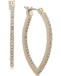Lonna & Lilly - Gold-tone Crystal Pointed Hoop Earrings - Lyst