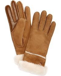 UGG - Stitched Slim Tech Gloves - Lyst