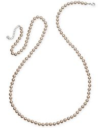 Charter Club - Imitation Pearl Long Statement Necklace - Lyst