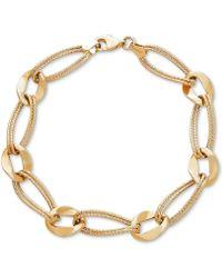 Macy's - Marina Double Link Bracelet In 14k Gold - Lyst