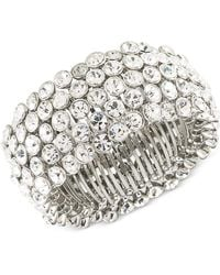 Carolee | Silver-tone Crystal Stretch Bracelet | Lyst
