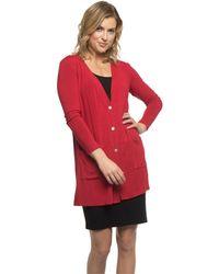 Yala Designs - Yala Leslie Long Sleeve Oversize Viscose From Bamboo Knit Cardigan - Lyst