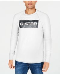 844738d649 Lyst - G-Star Raw Men s Afrojack Graphic-print Logo T-shirt in White ...