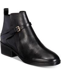 Cole Haan - Women's Etta Leather Block-heel Booties - Lyst